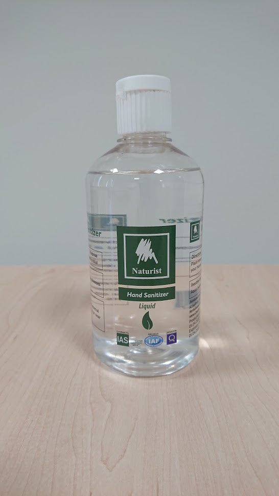 Naturist hand sanitizer 70% alcohol - 500 ML - o2health