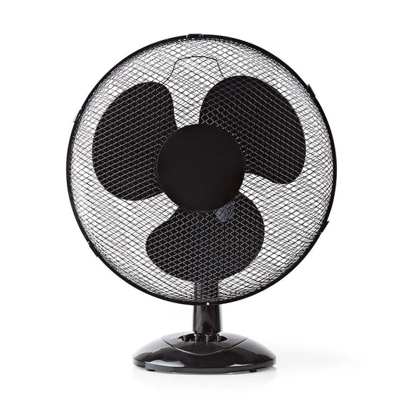 Nedis Table Fan | Diameter 40 cm | 3 speeds | Oscillation function | Black - o2health