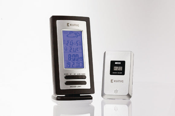 Advisory Weather Station inside and outside Black/Silver -o2health