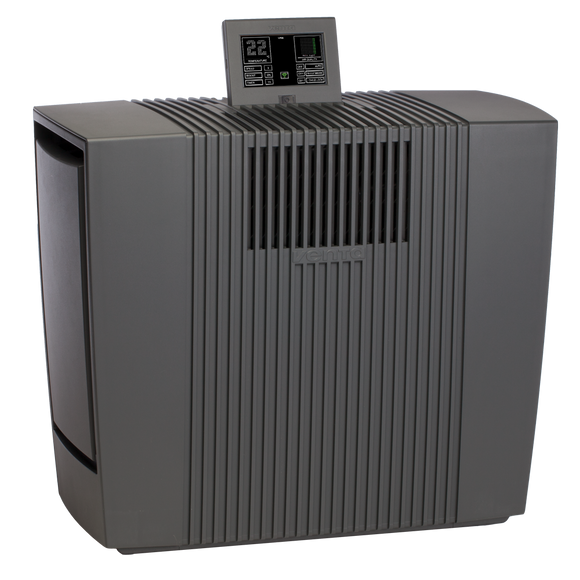 Venta LP60 Air purifier 75m² with 2 VENTAcel Nelior filters 0.07 microns with remote control, Antraciet - o2health