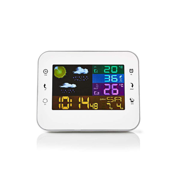 Nedis Weather Station | Wireless sensor | Alarm clock | Weather forecast WEST402WT - o2health