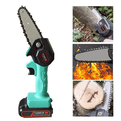 Rechargeable Mini Woodcutting Electric Chainsaw 24V For Woodworking Wood Cutters