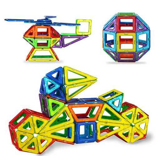 Magnetic Building Tiles Blocks