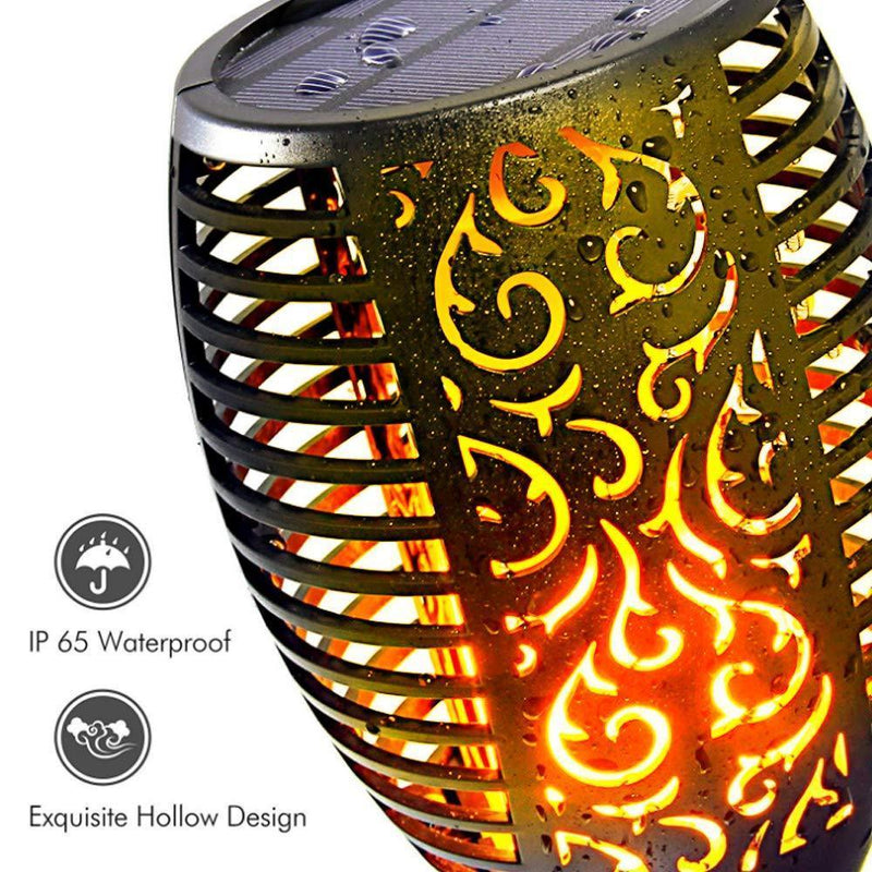 Outdoor Solar Flame Tiki Light Torch