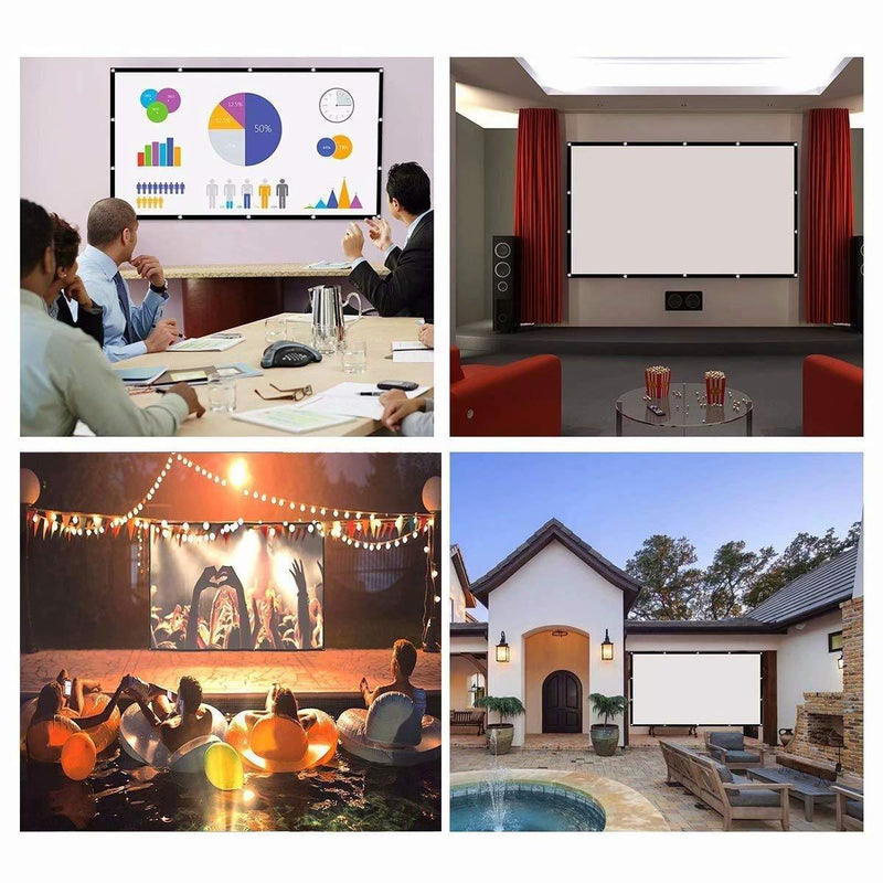 Portable Outdoor Movie Projector Screen - 150""