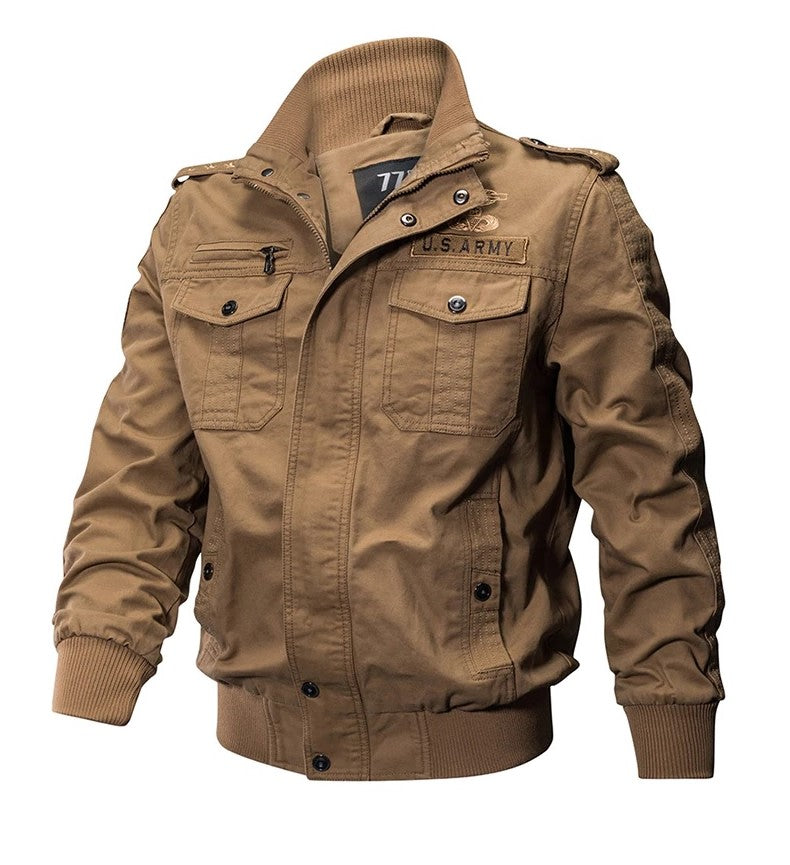 Men's Military Jacket Army Lightweight Air Force Cargo Coat
