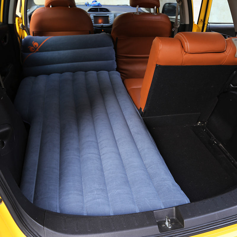 SUV Car Inflatable Pro Air Mattress Travel Bed for Back Seat with Extra Comfort Padding
