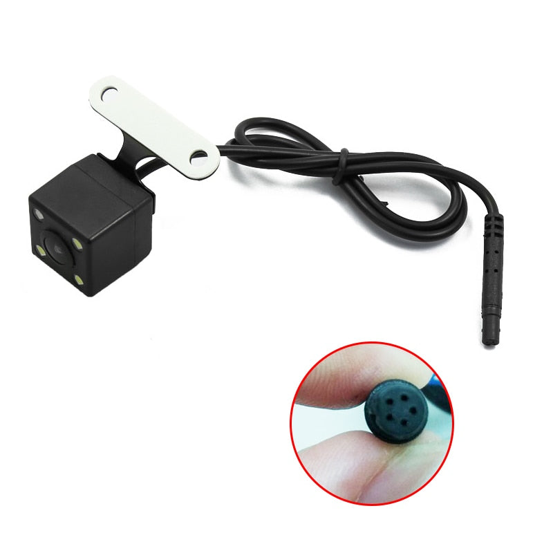 E-ACE Auto Reversing Parking Camera 4 LED Night Vision Waterproof Car Rear View Camera Backup