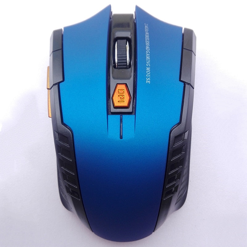 Wireless Gaming Mouse with Unique Backlight, 2000 DPI, Ergonomic Grips, 6-Button Design