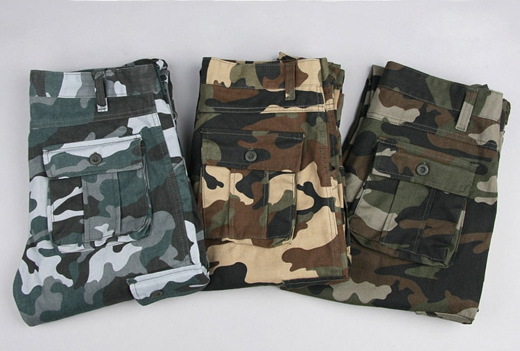 Military Professional Camo Pants Men's Cargo Army Trousers