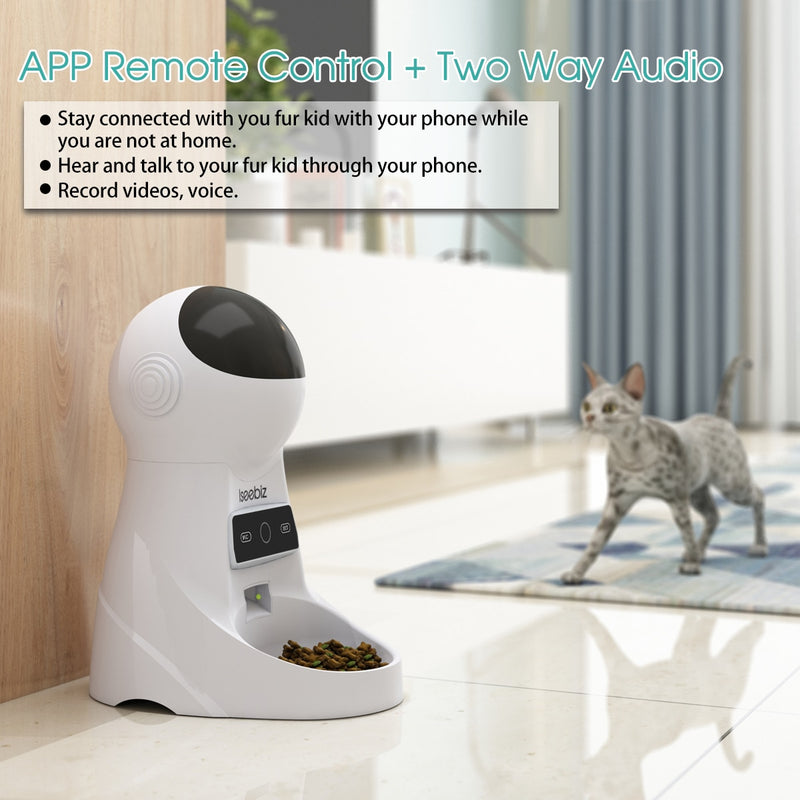 Automatic Dog Pet Feeder Station with Voice Recorder