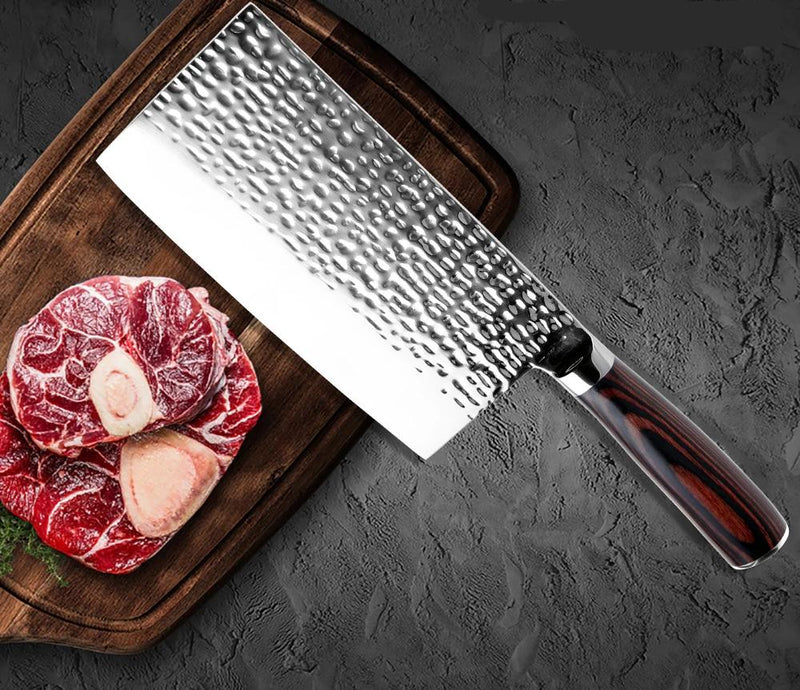 Professional Chef Japanese Butcher Knife High-Carbon Steel Meat Cleaver