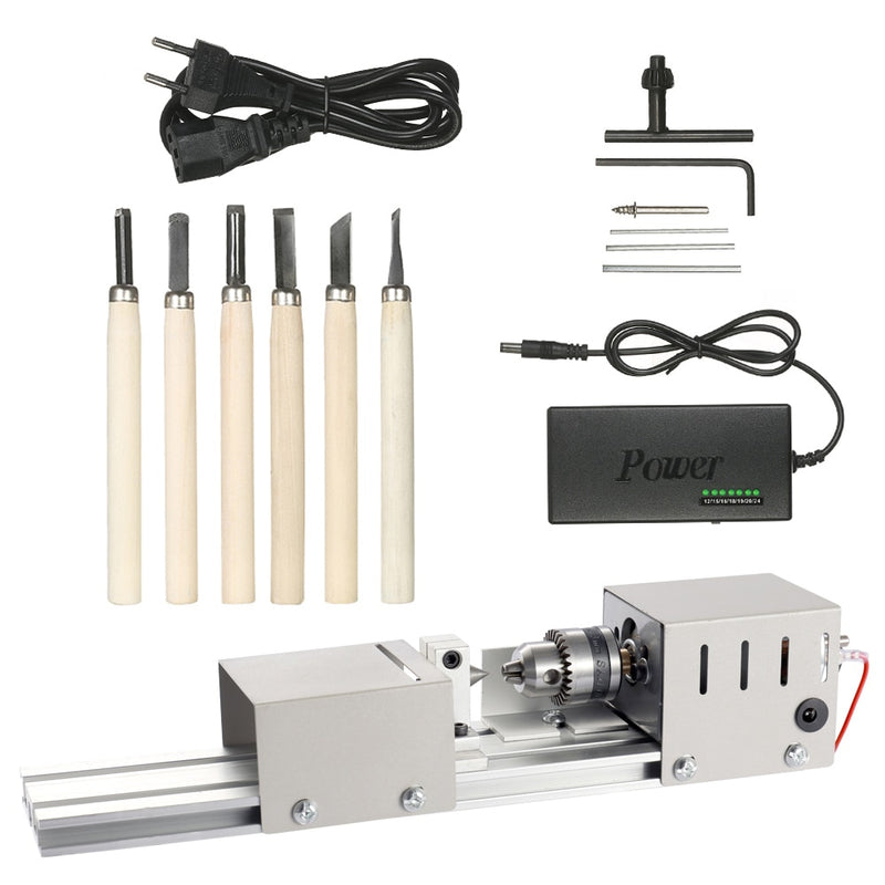 Mini Lathe Wood Metal Small Turning Machine