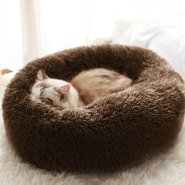 Marshmallow Cat Bed Calming Soft Round Bed