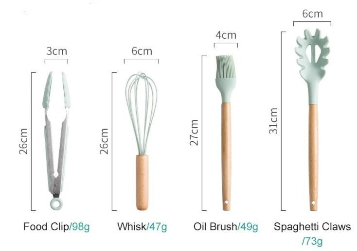 Silicone Cooking Utensils Kitchen Non-Stick Tools Set