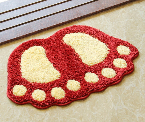 Footprint Bathroom Rug Mat