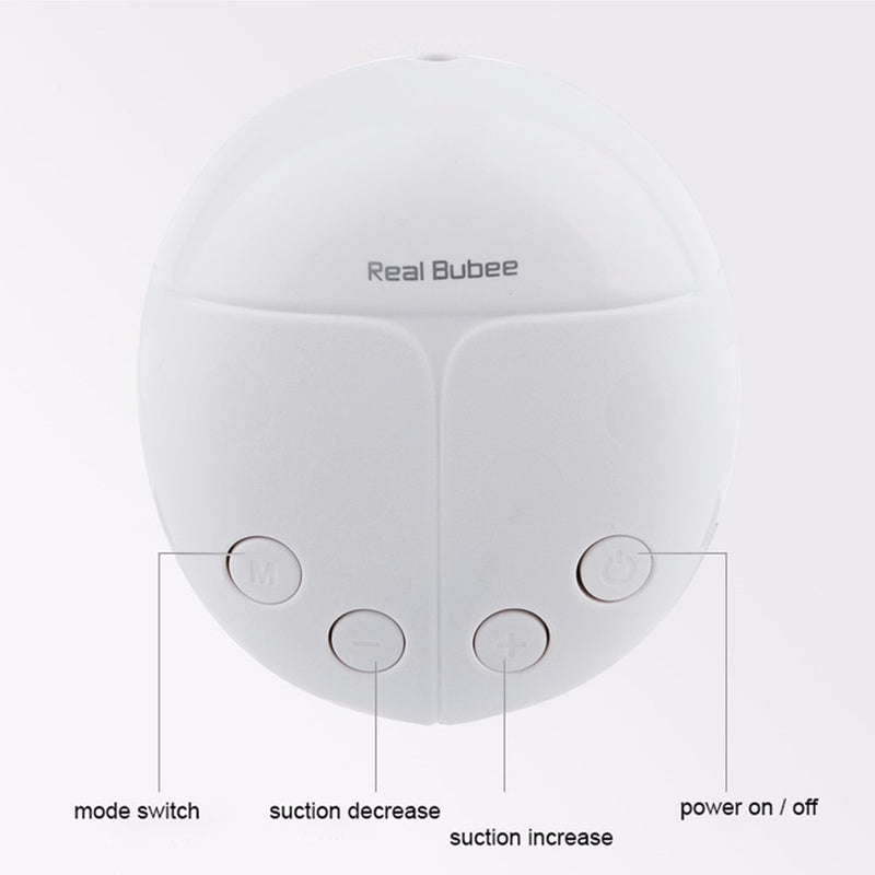 Bubee Pro Double Electric Breast Pump with Adjustable Suction (includes 2 Infant Milk Bottle)