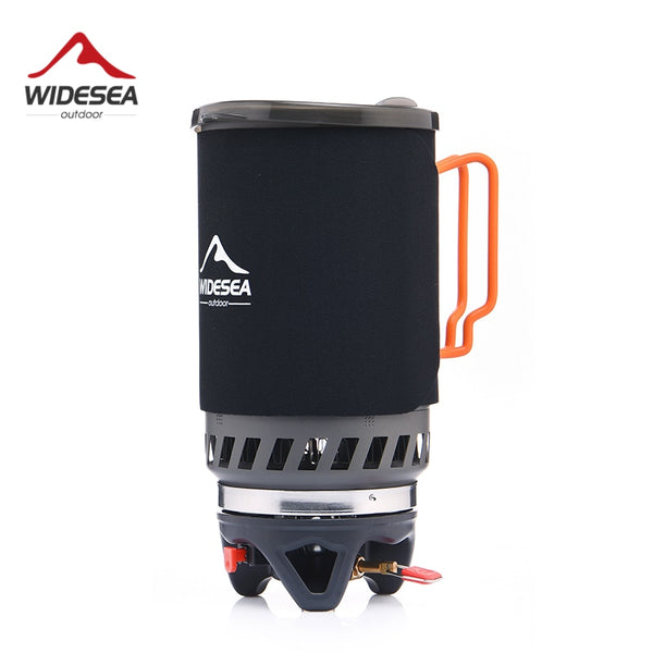 Widesea Portable Gas Burner Camping Stove & Pot - 1400ml