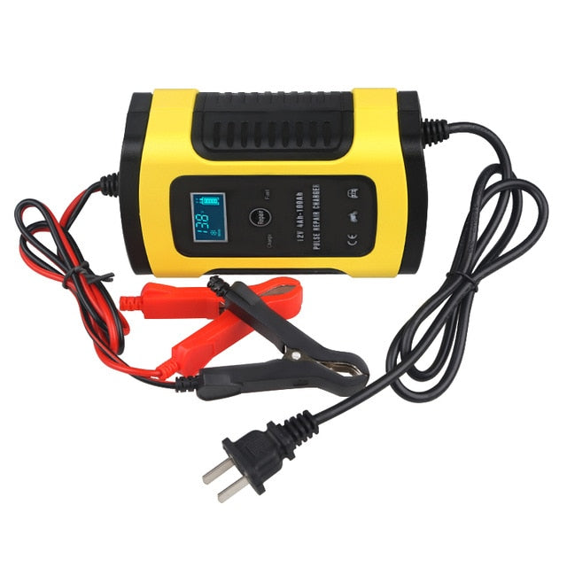 Portable Auto Car Battery Charger - 12V