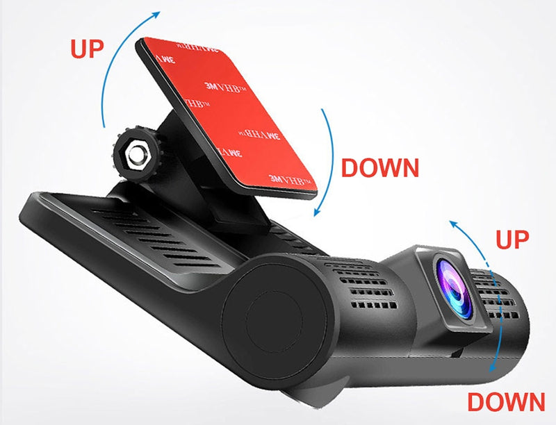 Full HD 1080P Dual Dash Cam With Rearview Camera