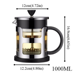 Stainless Steel Luxury Portable French Press Coffee Tea Maker Machine
