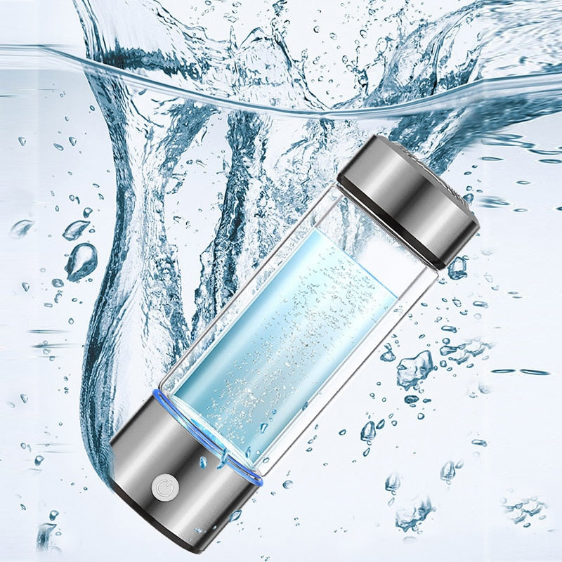 Portable Hydrogen Alkaline Generator Water Ionizer Infuser Machine - 500ml
