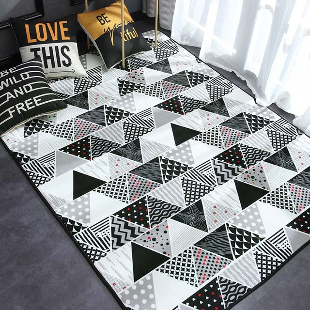 Versatile Home Decor Bedroom Rug Living Room Mat (Multiple Creative Designs)