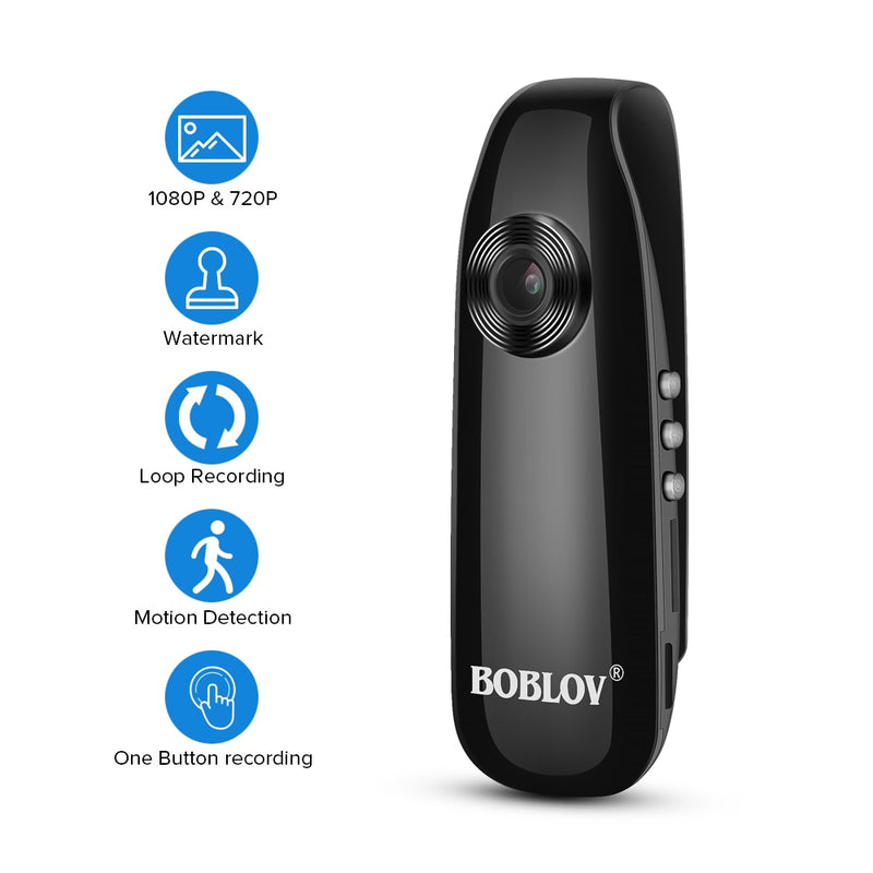 Boblov Full HD 1080P Mini Body Camera