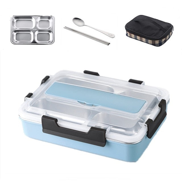 Stainless Steel Japanese Bento Lunch Box | Thermal Insulated Food Container