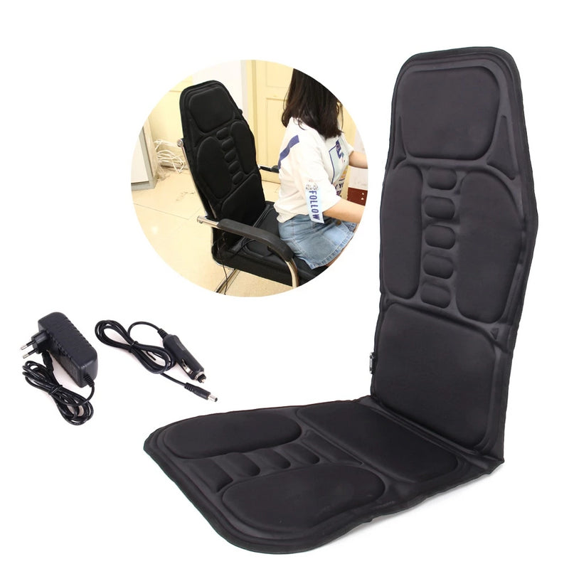Electric Back Heating Massager Chair Pad Car Cushion