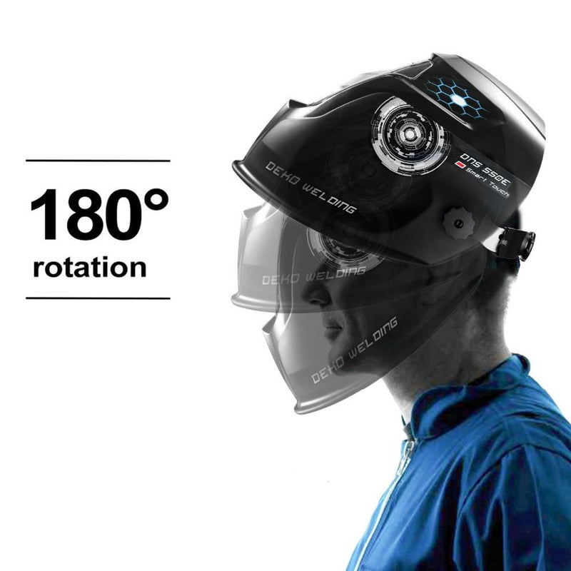 Deko Solar Auto Darkening Adjustable Electric Welding Helmet Mask
