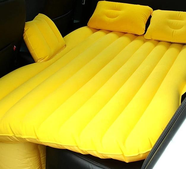 Car Inflatable Air Mattress & Travel Bed for Back Seat with Extra Padding and 2 Pillows