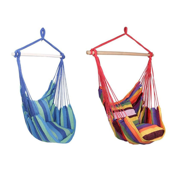 Easy Portable Comfortable Hanging Hammock Chair (with 2 pillows)