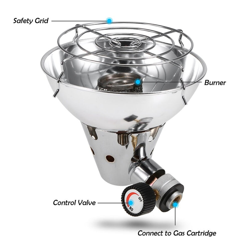 Portable Gas Stove & Food Heater for Camping