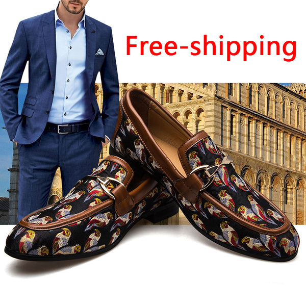 Hot Sale Male Comfortable Quality Leather Flats Banquet Shoes