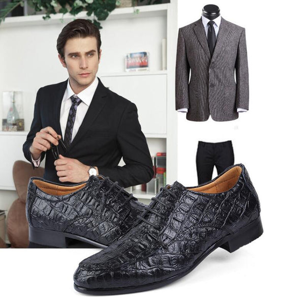 Plus Size Men Business Oxford Shoes Trendy Dress Shoes Wedding Shoes