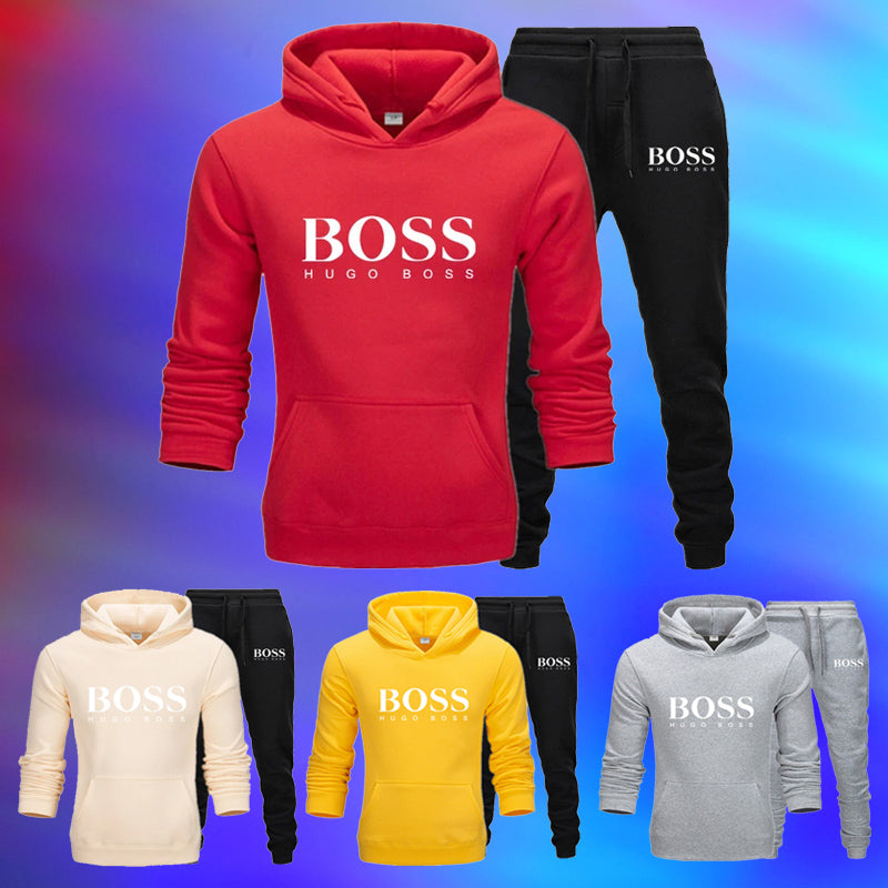 Fashion Casual Sports BOSS Hoodies Suits