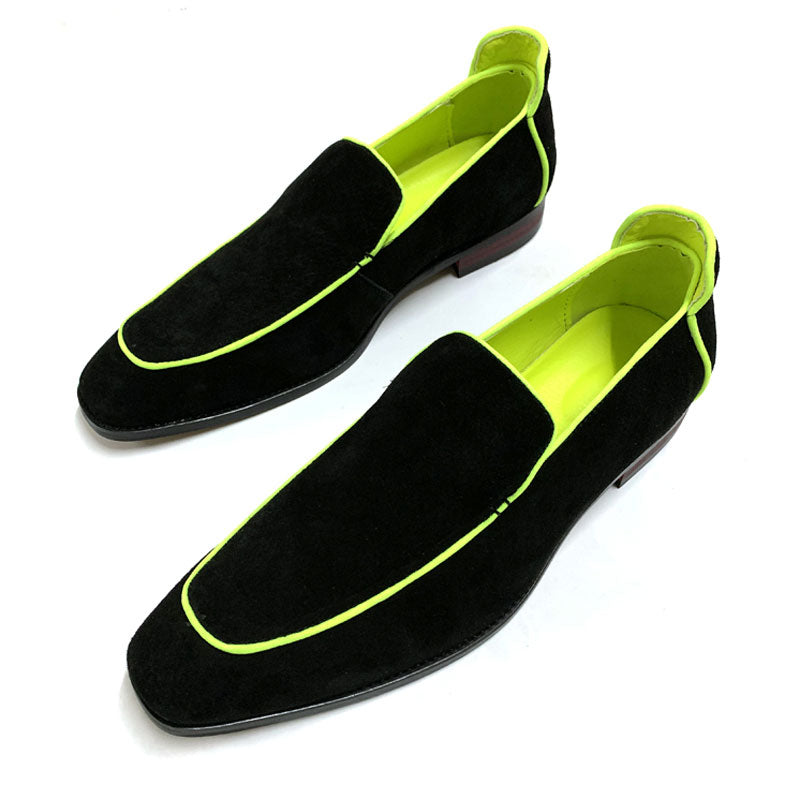 Men's Chic Leather Dress Shoes Loafer Casual Slip-on Shoes