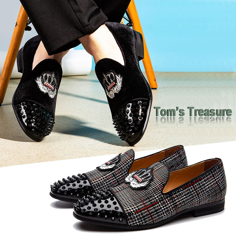 Men's Loafers Slipper Casual Shoes Wedding Genuine Leather Dress shoes