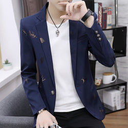 High quality men's casual Blazer business casual Slim-fit Coat (Important Note:Please choose the size according to the size table)