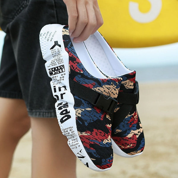 Camouflage Men Summer Breathable Air Mesh Outdoor Beach Slippers