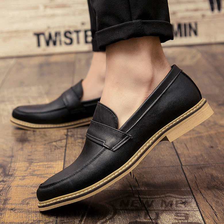 Luxury Mens Pointed Toe Oxford Dress Shoes Casual Loafers Saddle Shoe