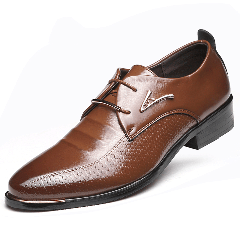 Luxury Men's Leather Dress Loafers Oxford Breathable Wedding Shoes