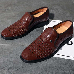 Men's Leather Oxford Sandals Casual Breathable Loafers Moccasins Shoes