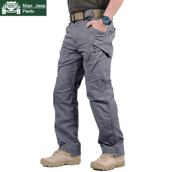 Men's Army Tactical Pants Military Style Cargo Pants Combat Trousers Work Trousers