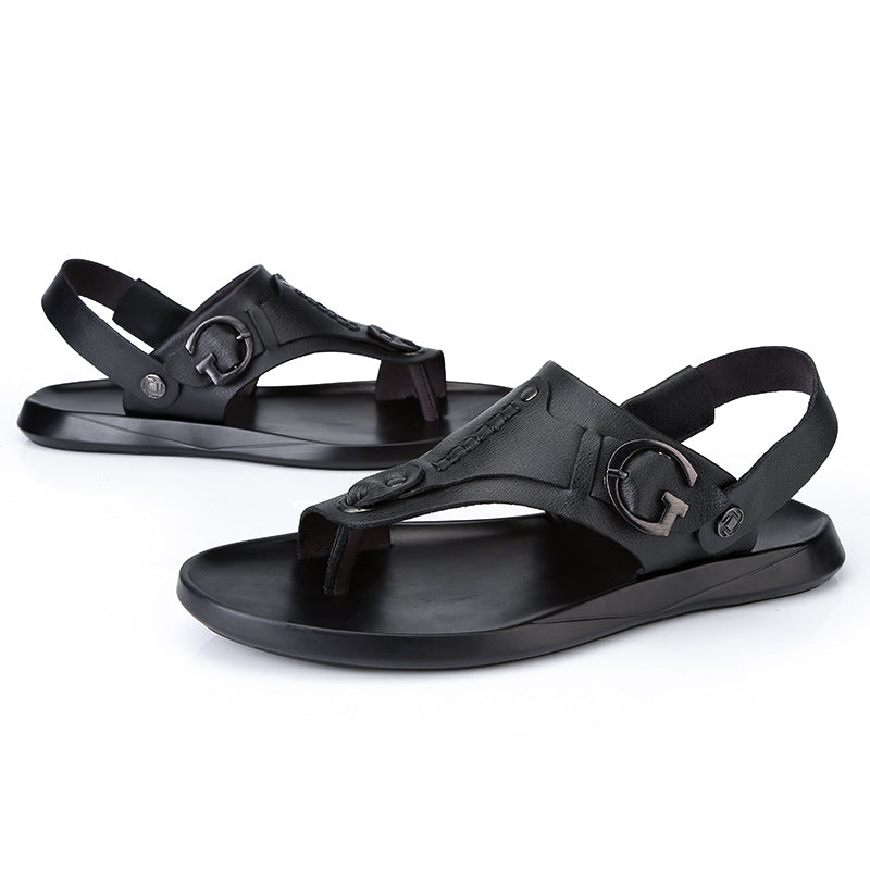 Summer Rome Style Cow Leather Outdoor Sandal