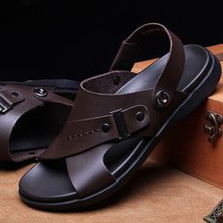2019 Open Toe Beach Sandals Leather Shoes Runway Strap Shoe