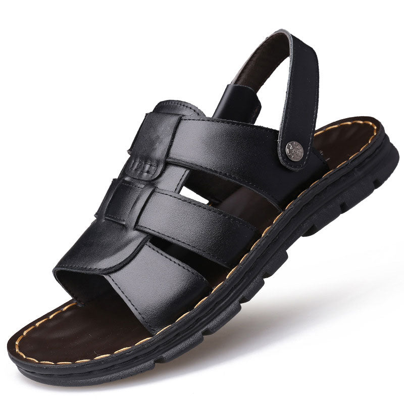 Men's Leather Sandals Genuine Leather Slipper Sandal Shoes