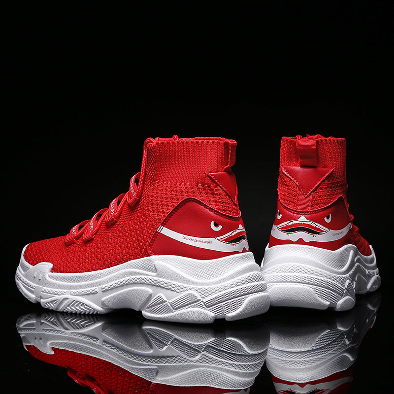 Knit Upper Breathable Chunky Shoes High Top Shoes