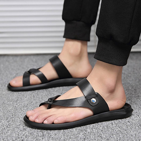 2019  Men's  Sandals Beach Male Non-slip Sandal Leather Shoes